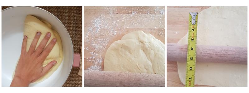 étapes 1 cinnamon rolls