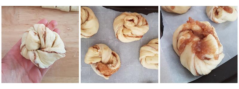 étapes cinnamon rolls (roulées à la cannelle) brioche moelleuse, aérienne