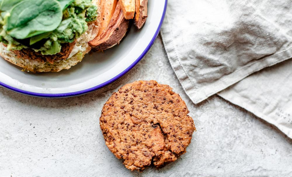 Quinoa butternut burger végétarien