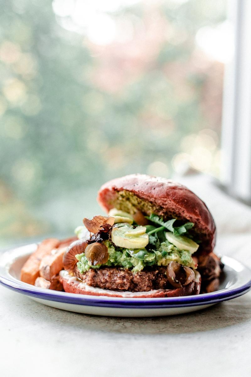 Red Bean Burger végétarien, galette végétarienne aux haricots rouges