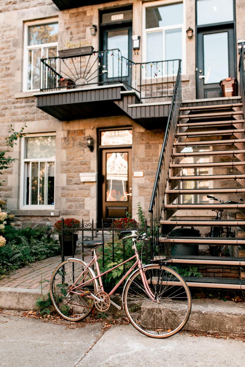 vélo rose montréal