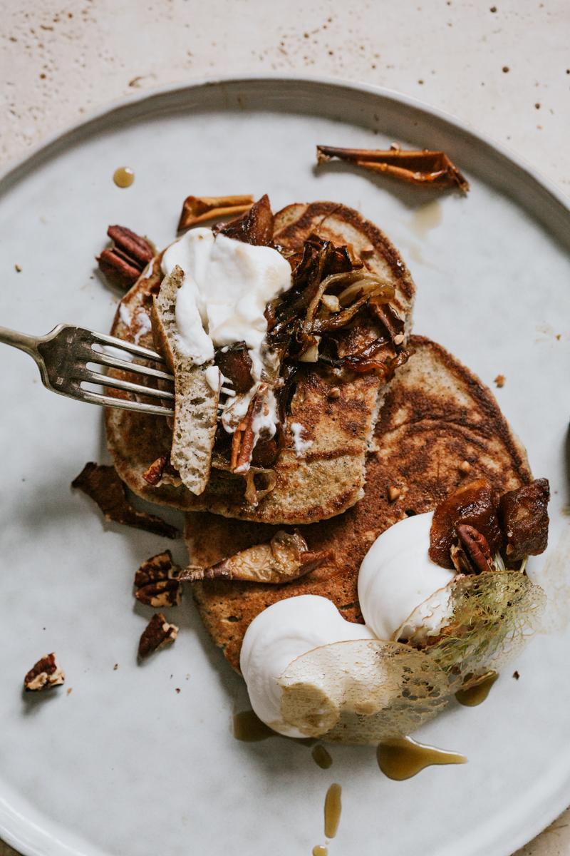 Kouign breton au blé noir, pancake au blé noir