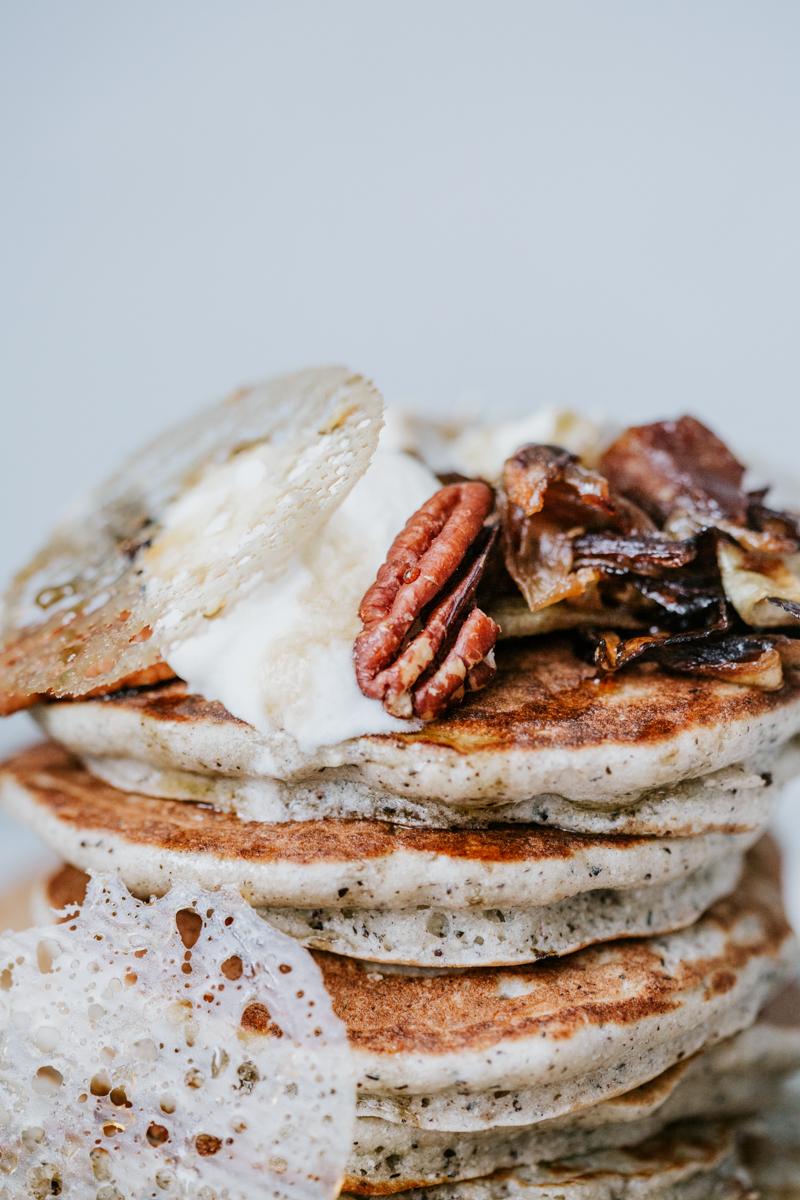 Kouign breton au blé noir, pancake au blé noir pour des plats salés et des desserts ! A accompagner avec une bolée de cidre breton.