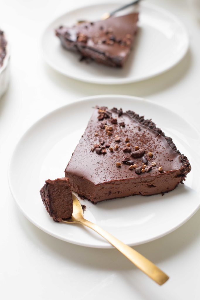 Tarte chocolat végétalienne