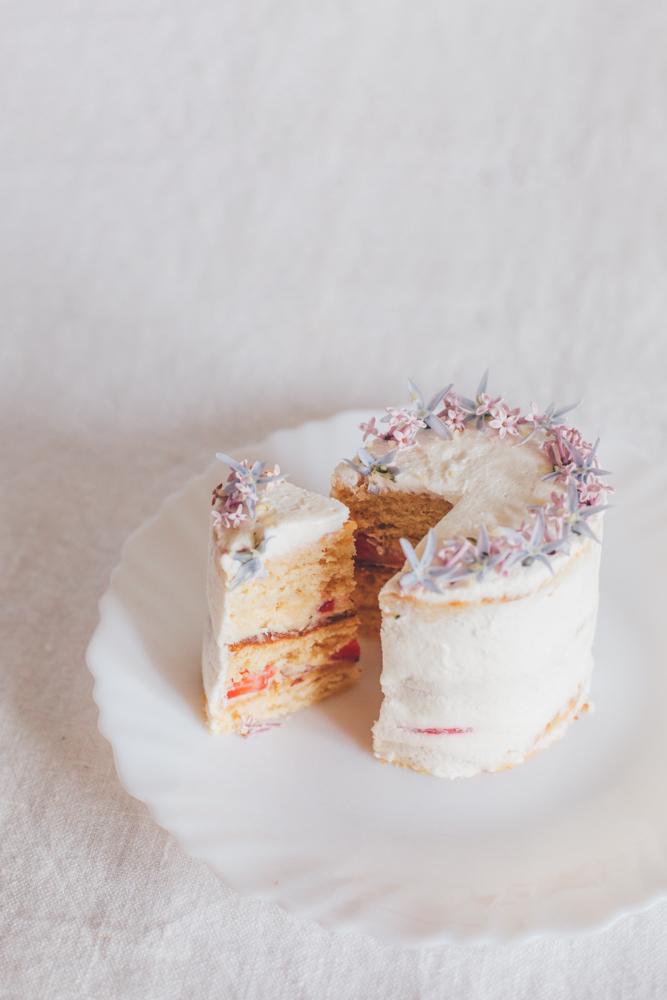 mini layer cake fleur comestible Mllecoton