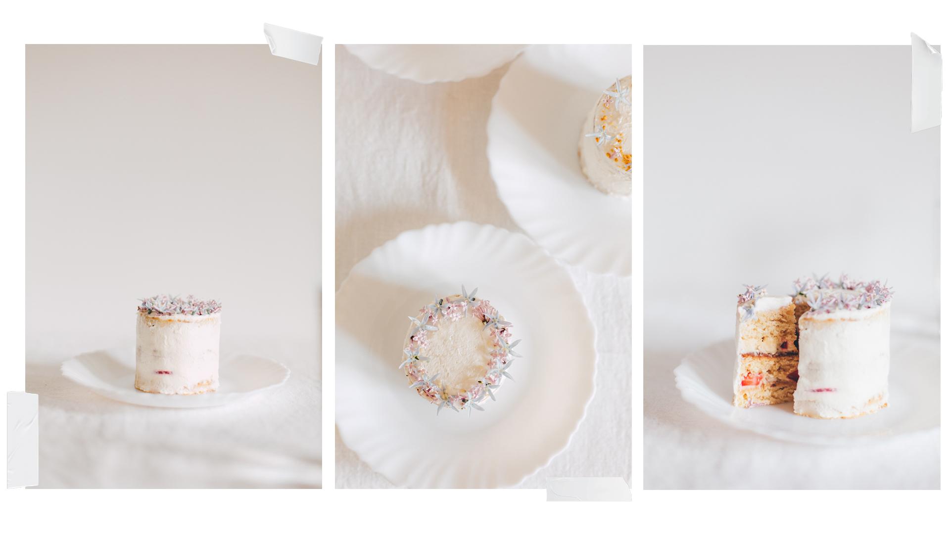 mini layer cake fleurs comestibles Mllecoton marine Le Berre