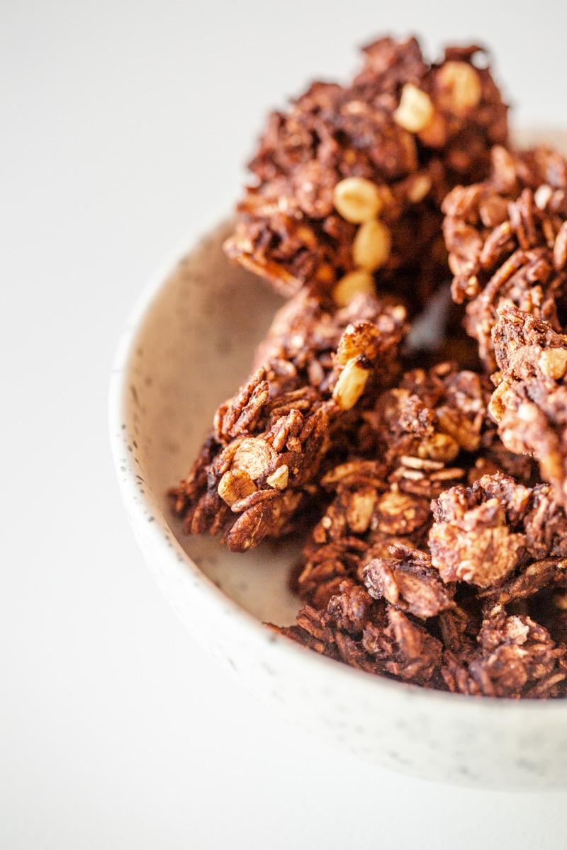 Recette Granola au chocolat sans noix et avec grosses pépites